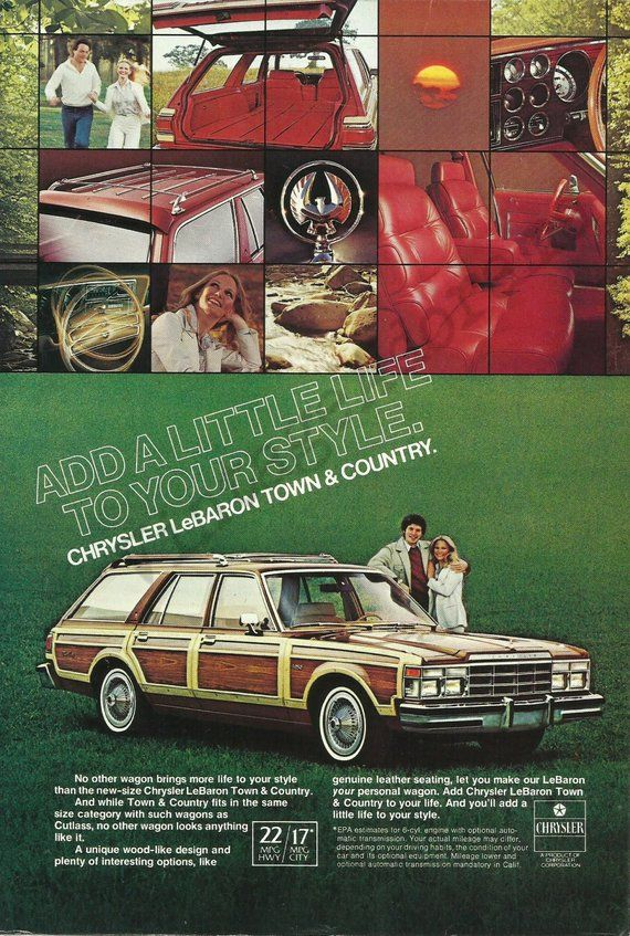 Chrysler Lebaron Town Country Station Wagon Automobile Original 1978 Vintage Color Print Advertisement Add A Little Life To Your Style In 2020 Chrysler Lebaron Station Wagon Chrysler