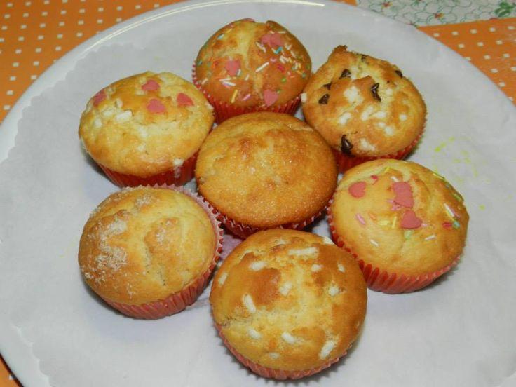 Muffins con cuori multi gusti