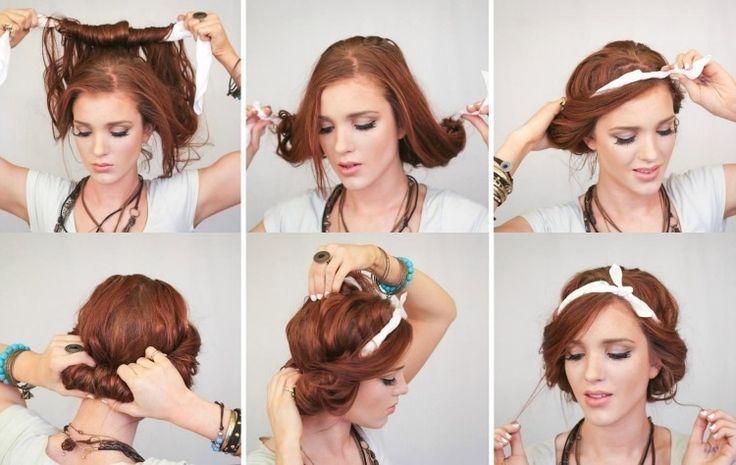 super schnelles Updo für lange Haare selber machen