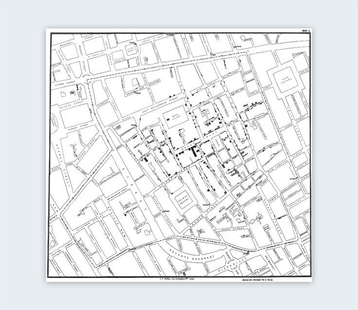 interesting infographics john snow's cholera map