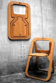 The Christian Desile Folding Chair is a Space-Saving Seat #bamboo #furniture trendhunter.com