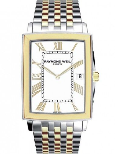 Raymond Weil Mens Square White Dial Tradition Watch 5456-STP-00308