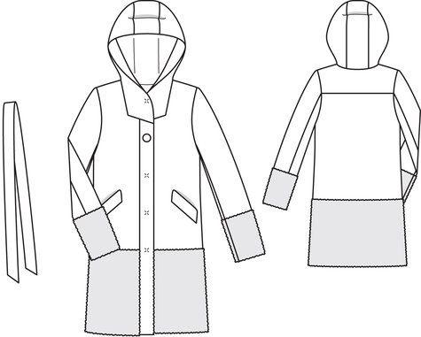 Hooded Coat 10/2013 #125 || BurdaStyle