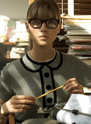 Nerd-Chic style. I like something about this look, on a piece-by-piece basis.