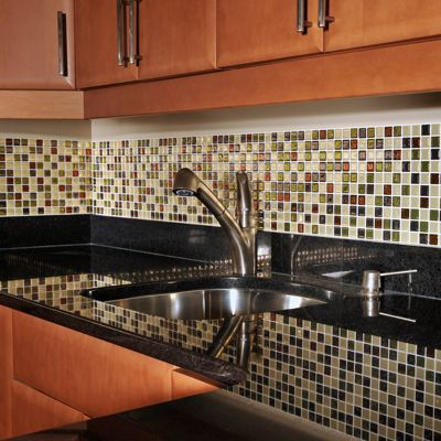 Need to redo my backsplash this year. Decorate your kitchen with Smart  Tiles self-adhesive tiles. In a matter of minutes, you will have a brand  new decor ...
