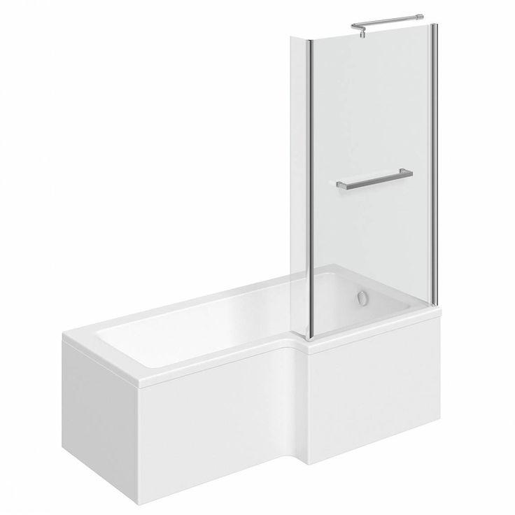 Boston Shower Bath 1500 x 850 RH inc. Screen Towel Rail VictoriaPlum.com