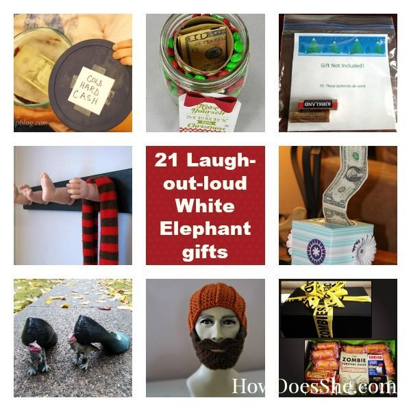 21 Laugh-Out-Loud White Elephant Gifts howdoesshe.com