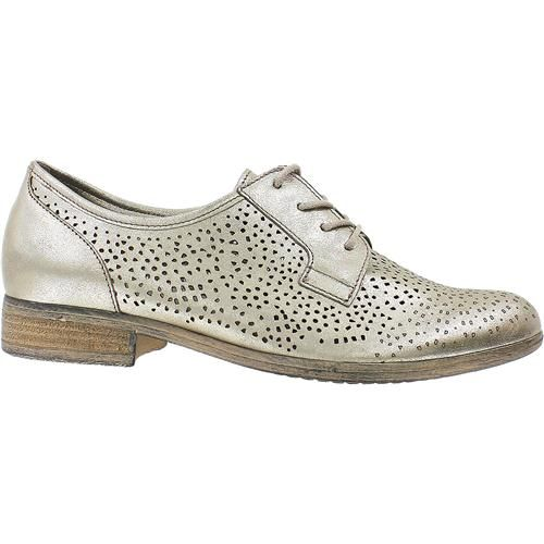 Perforated soft leather oxford from Gabor in a beautiful metallic pewter.  Now at Shoes On