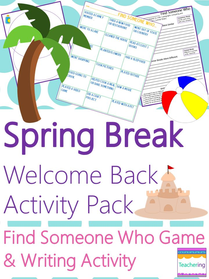 essay spring break What i did during spring break essay do you remember those typical essays teachers used to give students the first day back from summer vacation.