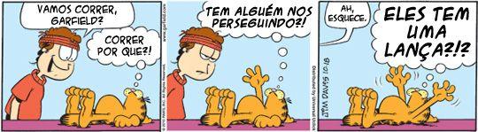 Vamos correr? | Tirinhas do Garfield