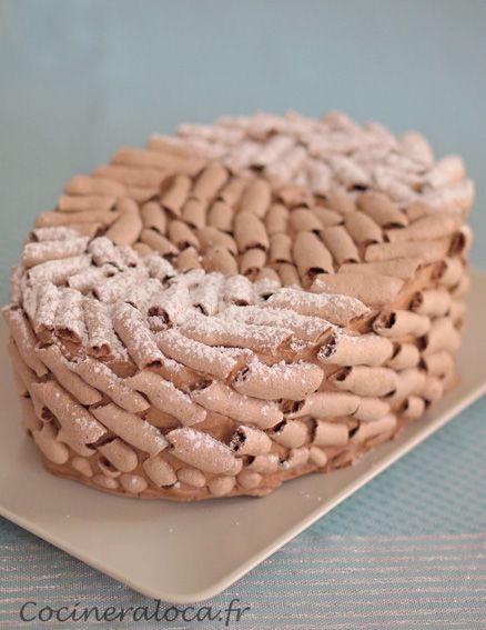 Le #Concorde de Gaston Lenôtre ©cocineraloca.fr #meringue au #chocolat, mousse au chocolat : tout chocolat !