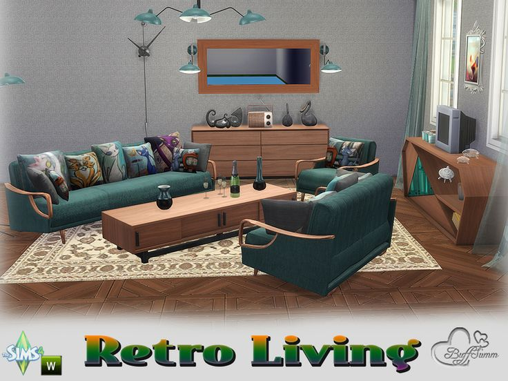 Stylish, Colorful, Retro :) Found In TSR Category U0027Sims 4 Living Room Setsu0027 Part 82