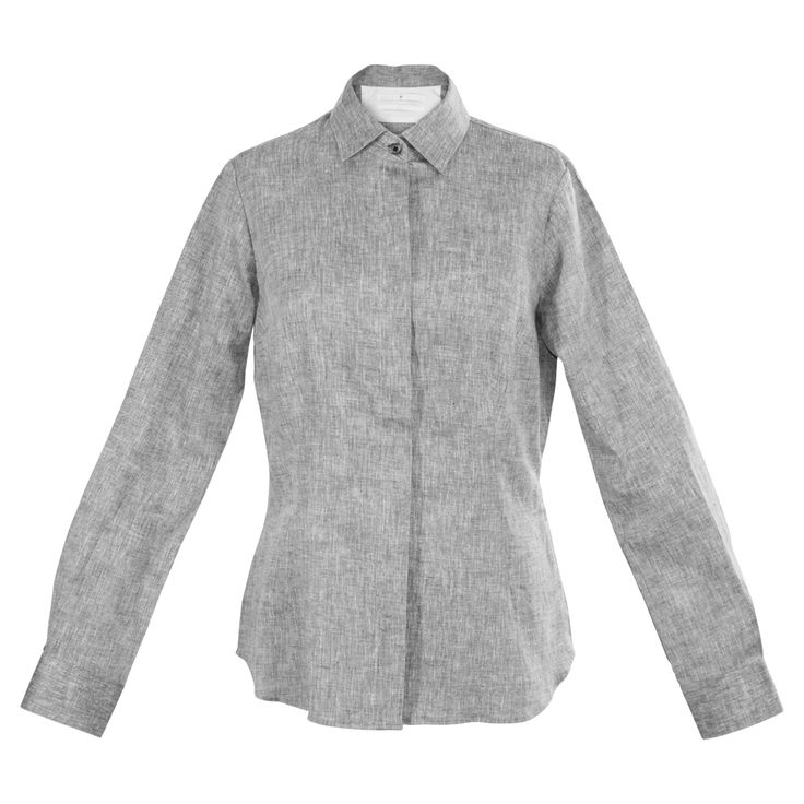 A quiet yet distinct pattern elevates this silver-grey work shirt beyond the ordinary. The texture adds interest to the shirt's clean lines and minimal, hidden-button placket. A small, mod collar, single button neat cuffs and shirt tail hem finish the classic design. Beautiful with black or white, and even better paired with colored separates. http://www.byariane.com.au/Louka-Marle