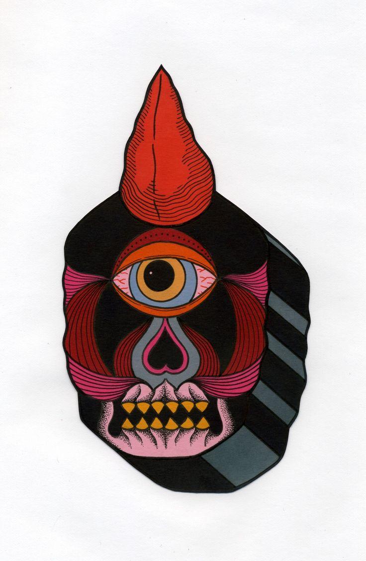 one eyed cyclops by david m cook aka bonethrower cyclops
