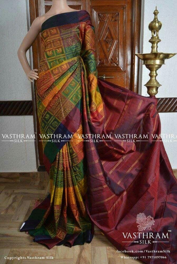 Handwoven kanchivaram silk  Cost: 13500 inr Whatsapp:  91 7019277192