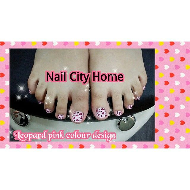 #Leopard #toenail #nailsdesign #pink w #Black ♡Can following by #Instagram #snapeee #Twitter #facebook #tumblr #pinterest ID : NailCityHome
