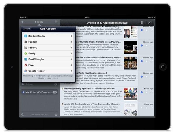 Co po Google Reader? Mr. Reader dla iPAda z obsługą Feedly i innych serwisów http://myap.pl/eZ