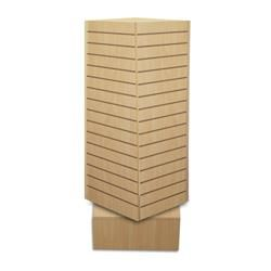 Revolving Slatwall Tower Display - Large.  ACMEDISPLAY.COM - Wholesale Packaging and Fixtures Distribution
