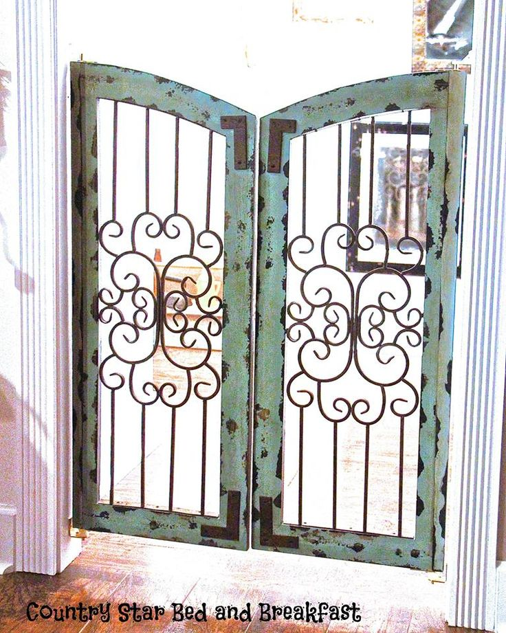 We split ours down the middle, swapped sides, and made it into swinging doors to keep our doggies from going into the guest area. Easy, attractive, and affordable with Hobby Lobby 40% off coupon