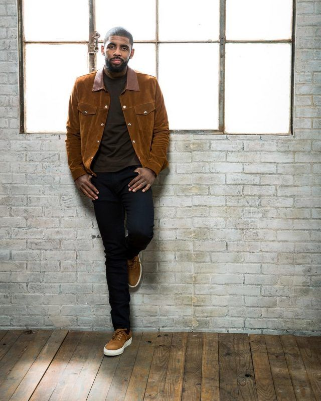 Kyrie Irving Wears Golden Goose Jacket, Balenciaga T-Shirt, Rag & Bone Jeans and Common Projects Sneakers | UpscaleHype