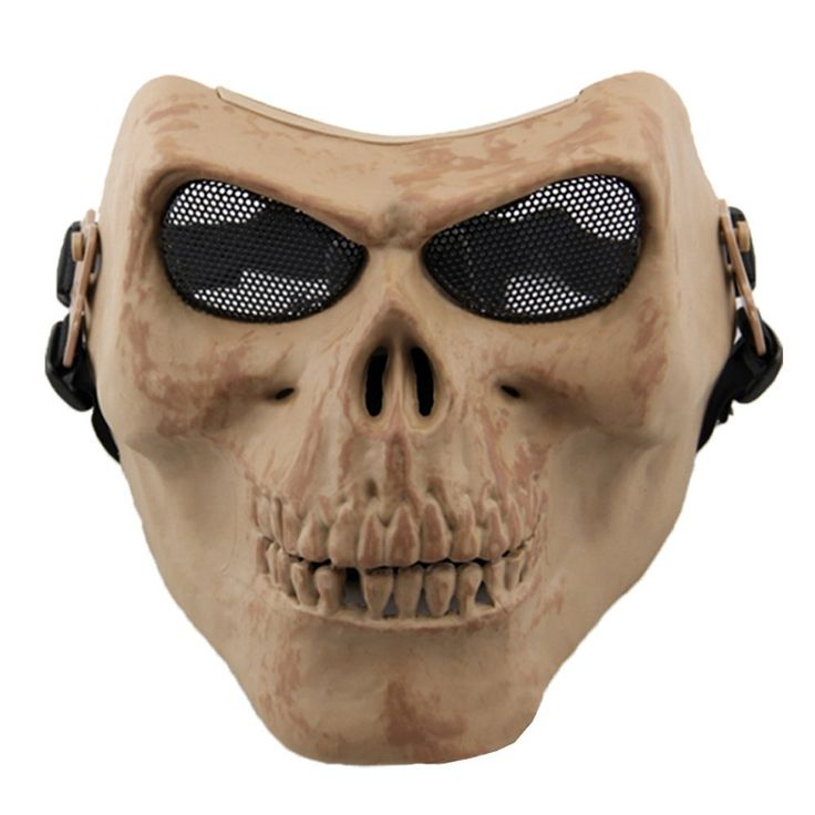 Skull Skeleton Airsoft Hunting Biker Ski Full Face Protect Gear Mask for Halloween Cosplay Costume Props Scary Mask