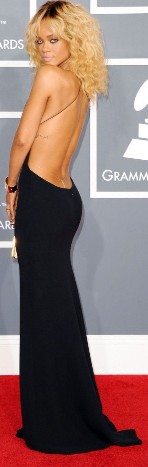 I loved Rihanna with this look. I definitely will not be looking for this dress, but I loved it along with her hair!