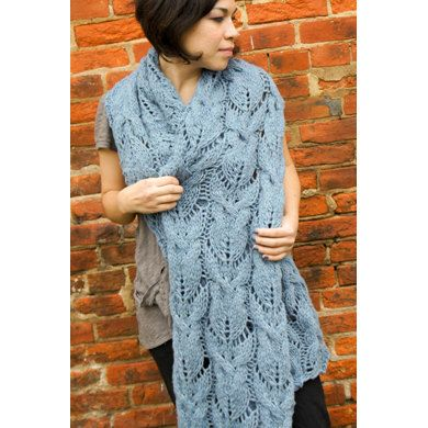 Cabled & Lace Muffler in Imperial Yarn Native Twist - F02 (Downloadable PDF) | Knitting Patterns | LoveKnitting