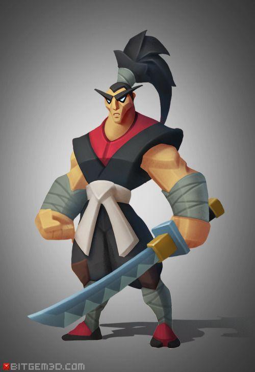The SamuraiHero concept No.2: The Samurai! By Dmitriy Barbashin.