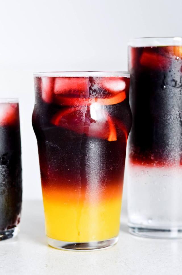 Red wine spritzer