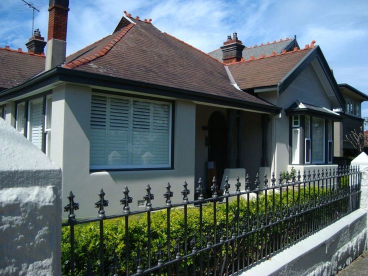New paint on an old Sydney home with colours selected by Inside Out Colour and Design