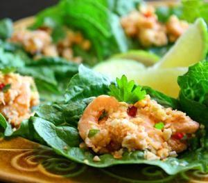 Top Thai Finger and Party Foods to Impress the Crowd: Mini Thai Shrimp Lettuce Wraps