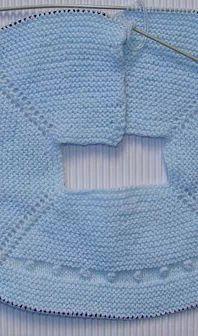 jersey para añadirle un faldón de tela, talla 0-1 mes, tutorial completo