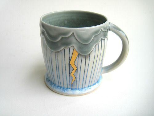silver-lining-ceramics:  Lightning Storm...