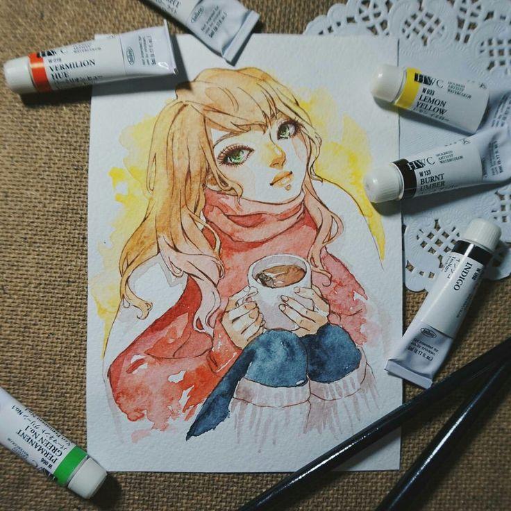 Аниме манга нарисованный рисунок