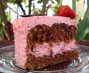 Recheio de Mousse de Morango – Tipo Sodiê um recheio que vai valorizar seus bolos, tortas e bolo no pote,