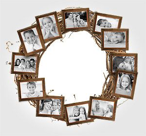 Create a photo wreath for fall décor that everyone will love.