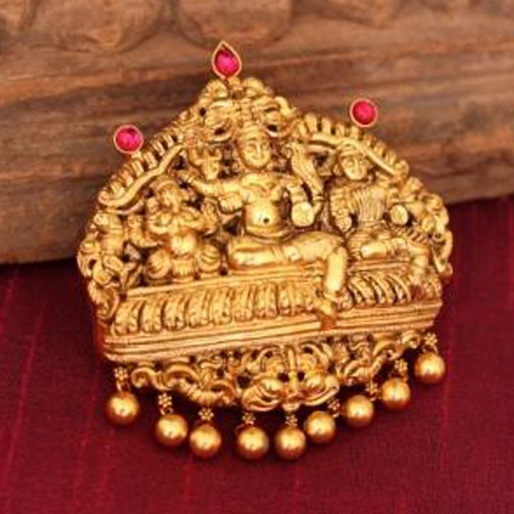 Lord Shiva & Parvati Pendant in Gold Plated Pure Silver