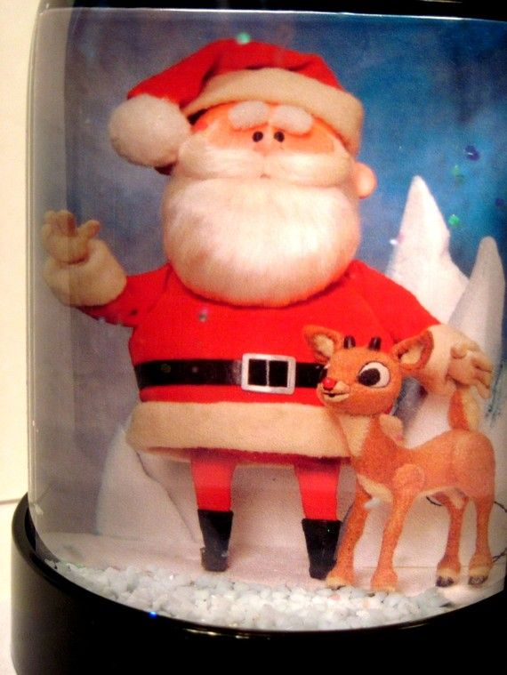 Rudolph the Rednosed Reindeer and Santa Claus Snow by BubbleRoll, $19.99