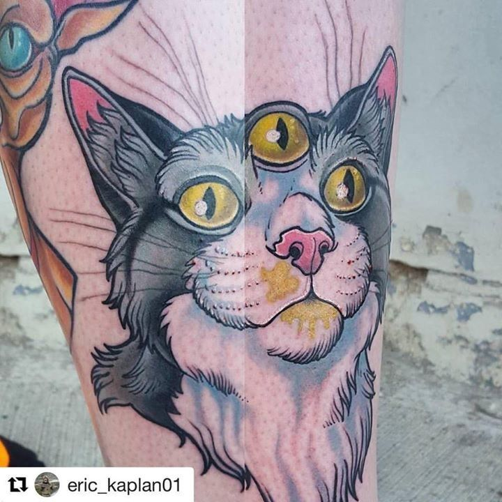 olio.tattoo Monkey Color Kitty Tattoo by @eric_kaplan01 from Voodoo Monkey Tattoo - Cleveland, OH @eric_kaplan01 #monkey #color #kitty -- More at: https://olio.tattoo/tattoo-images/mentions:monkey