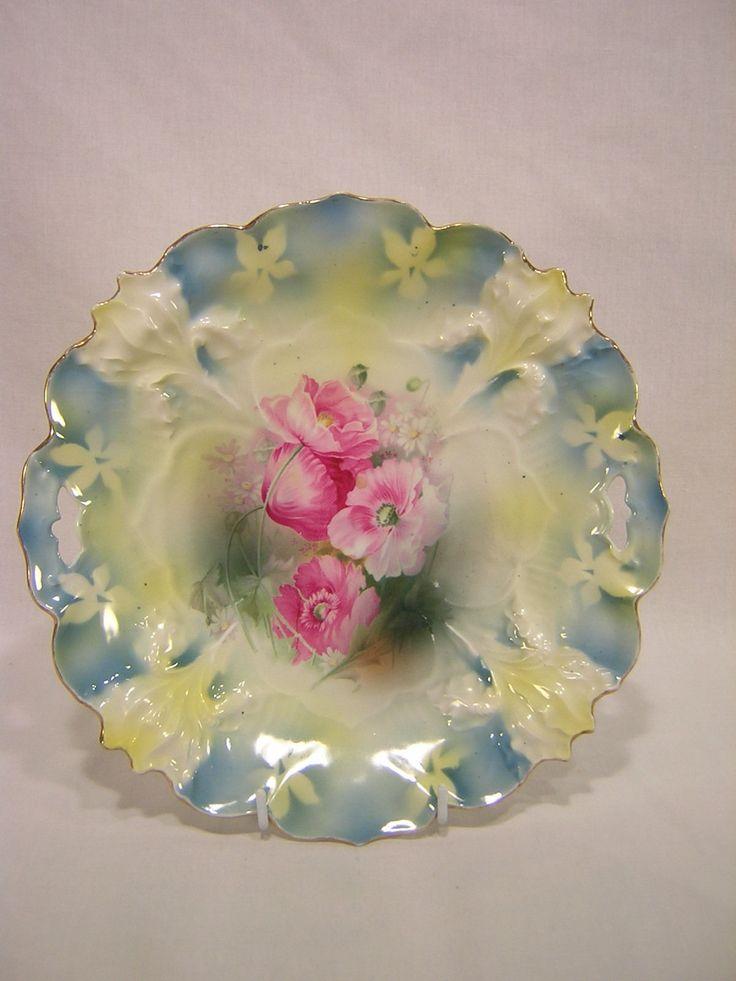 R S Prussia Plate Iris Mold