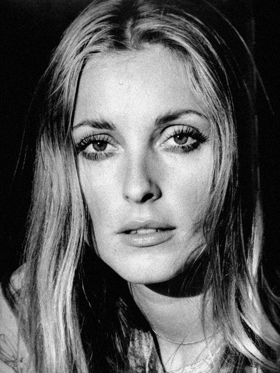 Sharon Tate. Showing some sadness. Through the lens of Ellen Graham.