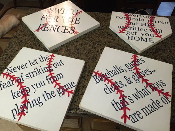 distressed baseball decor baseball signs by SandJBargainVault