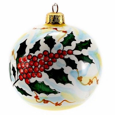 CHRISTMAS ORNAMENT: Deruta Vario - Round Ball Large