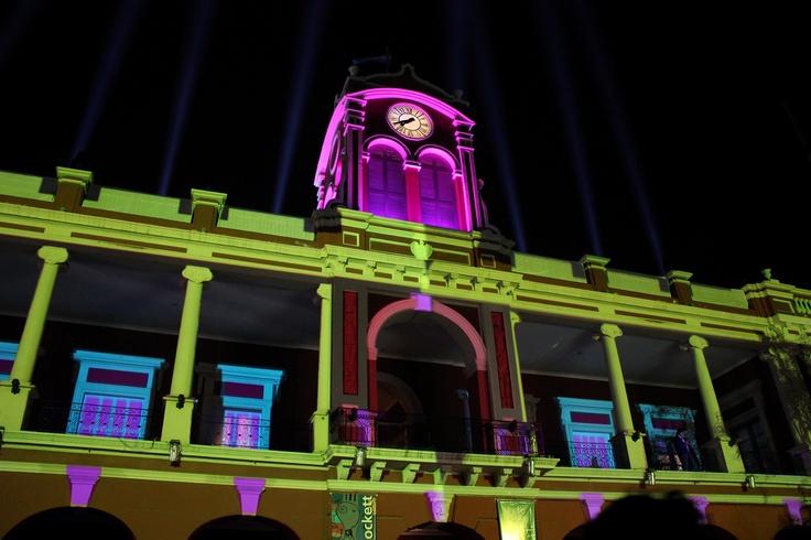 MAPPING en el CCB. Evento realizado el 24 de Julio de 2.012 con motivo de los festejos del 459º Aniversario de la Ciudad de Santiago del Estero, y el 2º Aniversario de creación del Centro Cultural del Bicentenario.