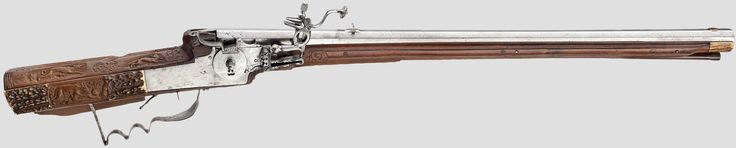http://www.hermann-historica.de/auktion/hhm66.pl?f=NR_LOT&c=%20%2027&t=temartic_S_GB&db=kat66_s.txt  A wheellock rifle, Michael Maucher, Schwäbisch-Gmünd, dated 1680