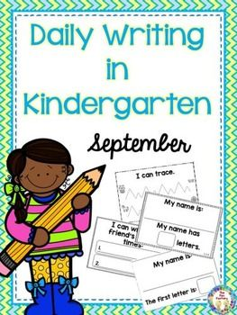 At the beginning of the school year your students come at all different levels of writing development. We have made Week 1 practices prewriting skills. Week 2 practices writing the most important word – their name. Week 3 practices writing a friend's name. Week 4 looks closer at the word parts and letters in their names.  We have created .these Daily Writing in Kindergarten booklets to encourage independent writing everyday.