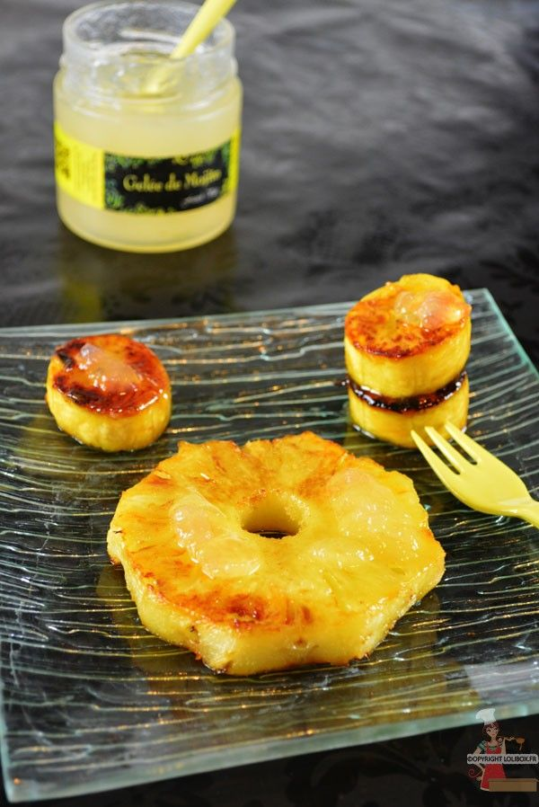 Ananas et banane plantain rôtis - recette à la plancha @lolibox