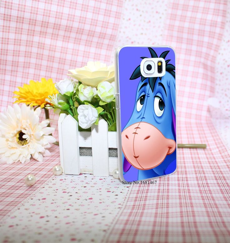 Big Ass Long Ear eeyore Cute Donkey Style Hard Transparent Phone Cases Cover for Galaxy S6 edge s5 s4 mini s3 mini #clothing,#shoes,#jewelry,#women,#men,#hats,#watches,#belts,#fashion,#style