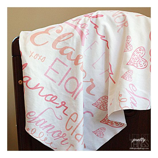 Personalized Baby Gift Baby Name Swaddle Blanket Amp Hat