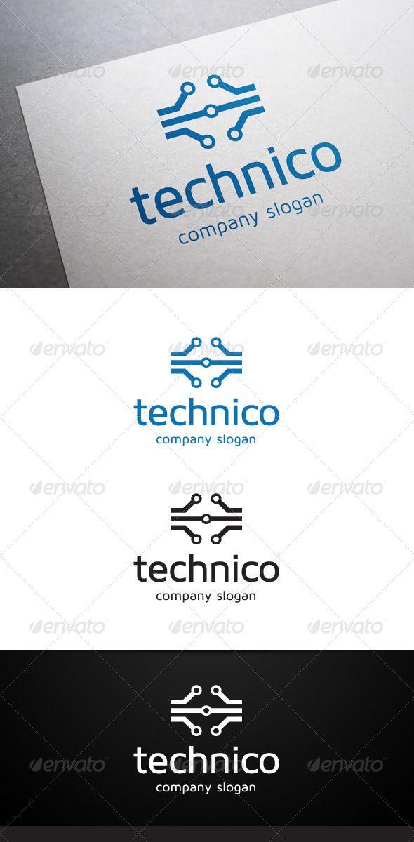 Technico Logo  #GraphicRiver        Description Technico Logo is a multipurpose logo.